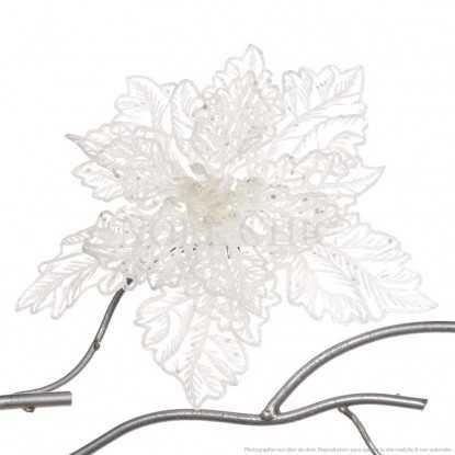 Fleur de Noël blanche façon dentelle