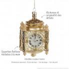 Horloge en verre : modèle couleur Ivoire