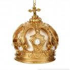 Couronne impériale dorée avec perles
