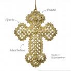Croix dorée : détail des finitions