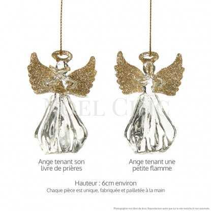 Ange en verre ailes dorées