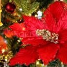 Fleur de Noël velours - Rouge