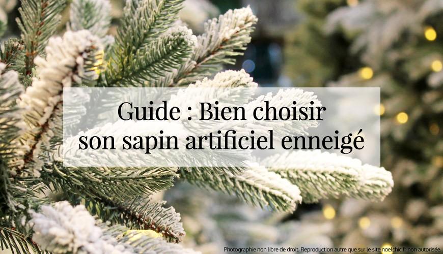Guide : Bien choisir votre Sapin enneigé