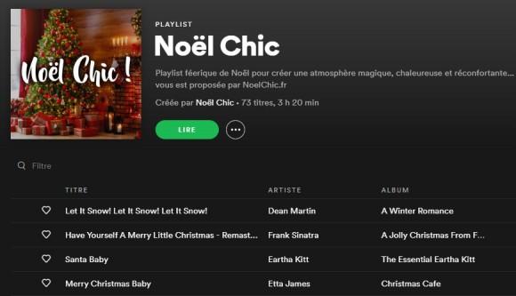 Noël Chic : notre playlist de Noël !
